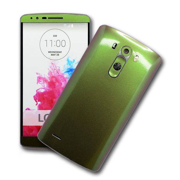 LG G3 Chameleon Purple-Green Skin Sticker Wrap Cover Decal