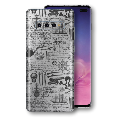 Samsung Galaxy S10+ PLUS Print Custom Signature Jolly Roger Skin, Wrap, Decal, Protector, Cover by EasySkinz | EasySkinz.com