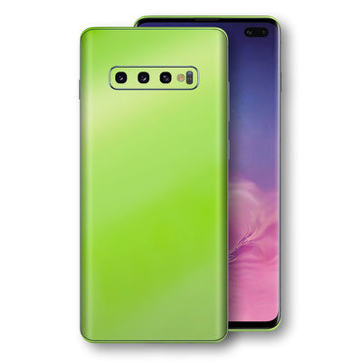 Samsung Galaxy S10+ PLUS Apple Green Pearl Gloss Finish Skin Wrap Decal Cover by EasySkinz