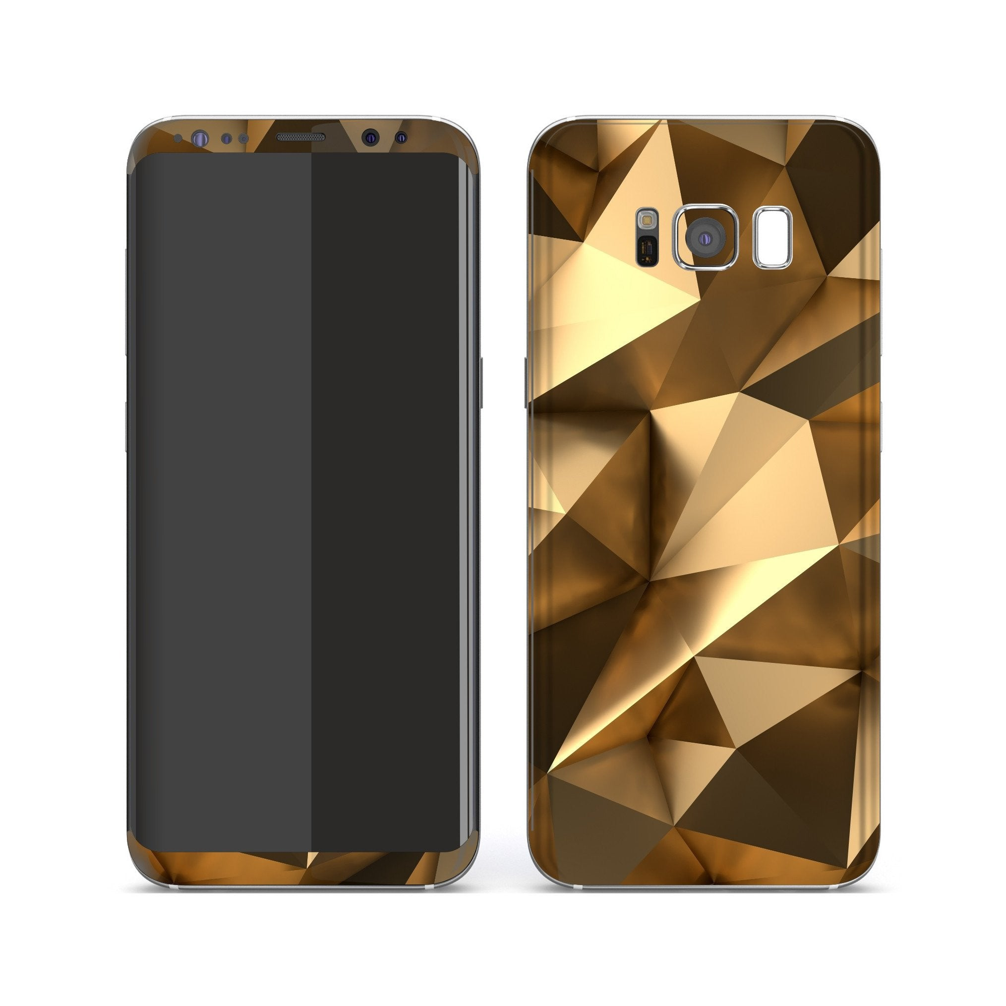 Samsung Galaxy S8 Print Custom Signature Gold Mirror Skin Wrap Decal by EasySkinz