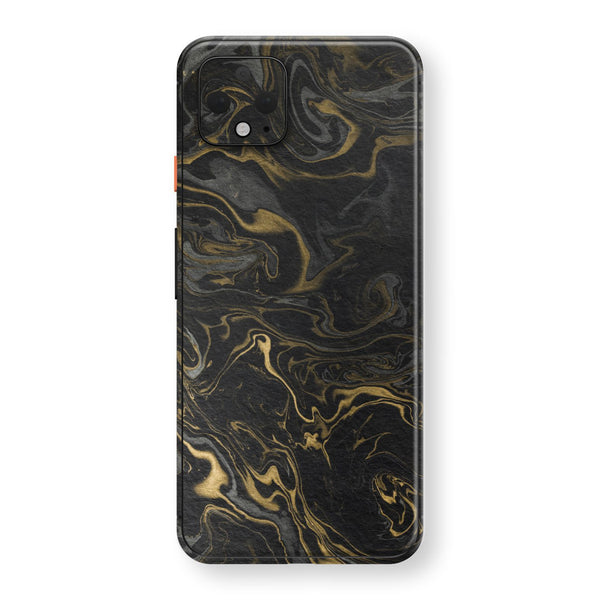 Google Pixel 4 XL Print Custom SIGNATURE Grey-Gold Ink Paper Skin, Wrap, Decal, Protector, Cover by EasySkinz | EasySkinz.com