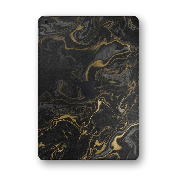 "iPad 10.2"" (7th Gen, 2019) SIGNATURE Grey-Gold Ink Paper Skin Wrap Sticker Decal Cover Protector by EasySkinz"