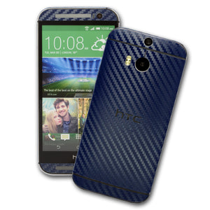 HTC One M8 blue carbon skin
