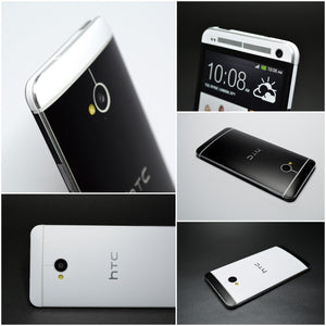 HTC ONE (M7) Black & White MATT Finish Skin