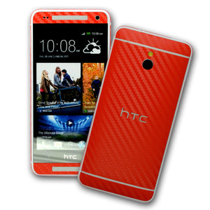 HTC One MINI M4 RED Carbon Fibre Skin