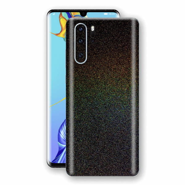 Huawei P30 PRO Glossy GALAXY Black Milky Way Rainbow Sparkling Metallic Skin Wrap Sticker Decal Cover Protector by EasySkinz
