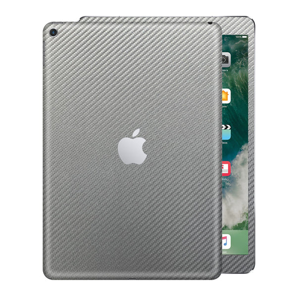 "iPad 9.7"" inch 5th Generation 2017 3D Textured Metallic Grey CARBON Fibre Fiber Skin Wrap Sticker Decal Cover Protector by EasySkinz"