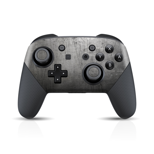 Nintendo Switch Pro Controller Print Printed Custom SIGNATURE Industrial Scratched Metal Skin Wrap Sticker Decal Cover Protector by EasySkinz