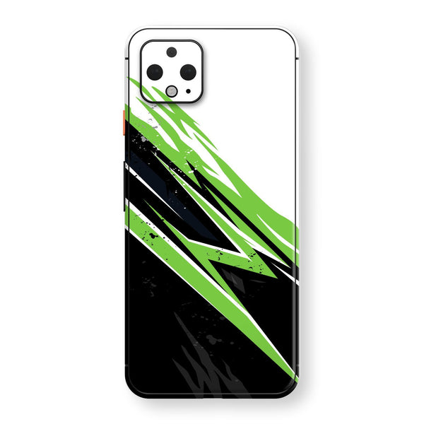 Google Pixel 4 XL Print Custom SIGNATURE Abstract GREEN Racing Skin, Wrap, Decal, Protector, Cover by EasySkinz | EasySkinz.com