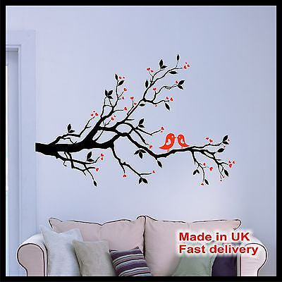 Abstract Tree with Birds Vinyl Wall Art - Wall Sticker - Wall Decal - Home Decor