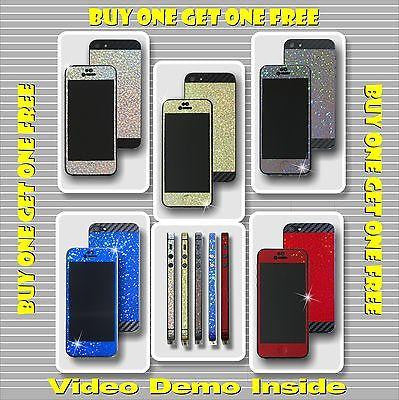 SPARKLE and CARBON FULL BODY Vinyl Wrap Sticker Skin Cover for iPhone 4 4S 5