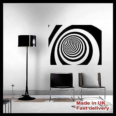 3D Abstract Vinyl Wall Art - Wall Sticker - Wall Decal - 4 Different Designs
