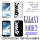 3D CARBON Fiber GN2 Symbol Vinyl Skin Sticker for Samsung GALAXY NOTE 2 N7100