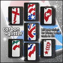 NATIONAL FLAG Shine GLITTER and CARBON  Skin for iPhone 4 4S 5