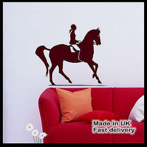 Horse Riding Rider Vinyl Wall Art - Wall Sticker - Wall Decal - Home Decor