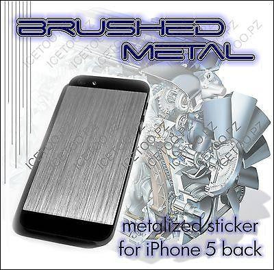 Brushed SILVER Metal Back Skin for iPhone 5
