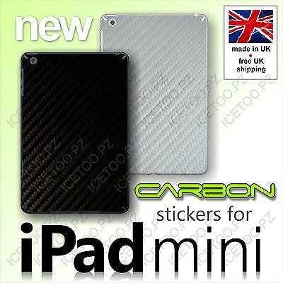 CARBON Fiber High Quality Back Vinyl Wrap Sticker Skin Cover for iPad MINI