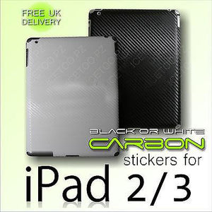 CARBON Fiber Back Vinyl Wrap Sticker Skin Cover for iPad 2 / iPad 3rd Generation