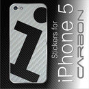 "ღ 3D CARBON fiber Vinyl ""i"" Full Battery Back Skin for iPhone 5"