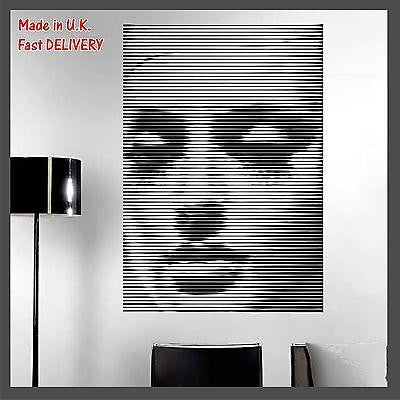 FASHION MODEL Woman Face Photo CUT Technology Vinyl Wall Sticker Decal Decor
