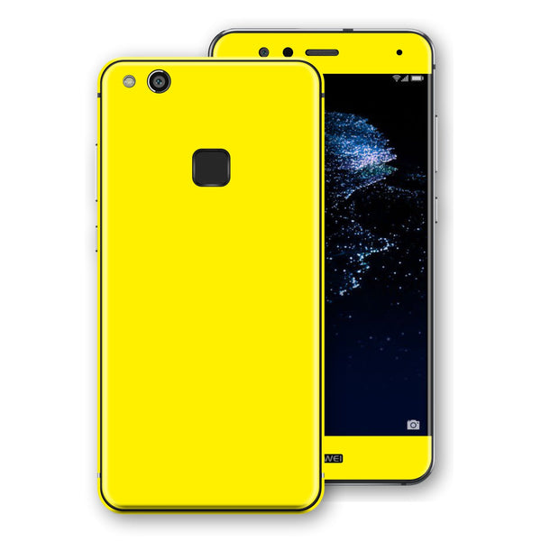 Huawei P10 LITE Lemon Yellow Glossy Gloss Finish Skin, Decal, Wrap, Protector, Cover by EasySkinz | EasySkinz.com