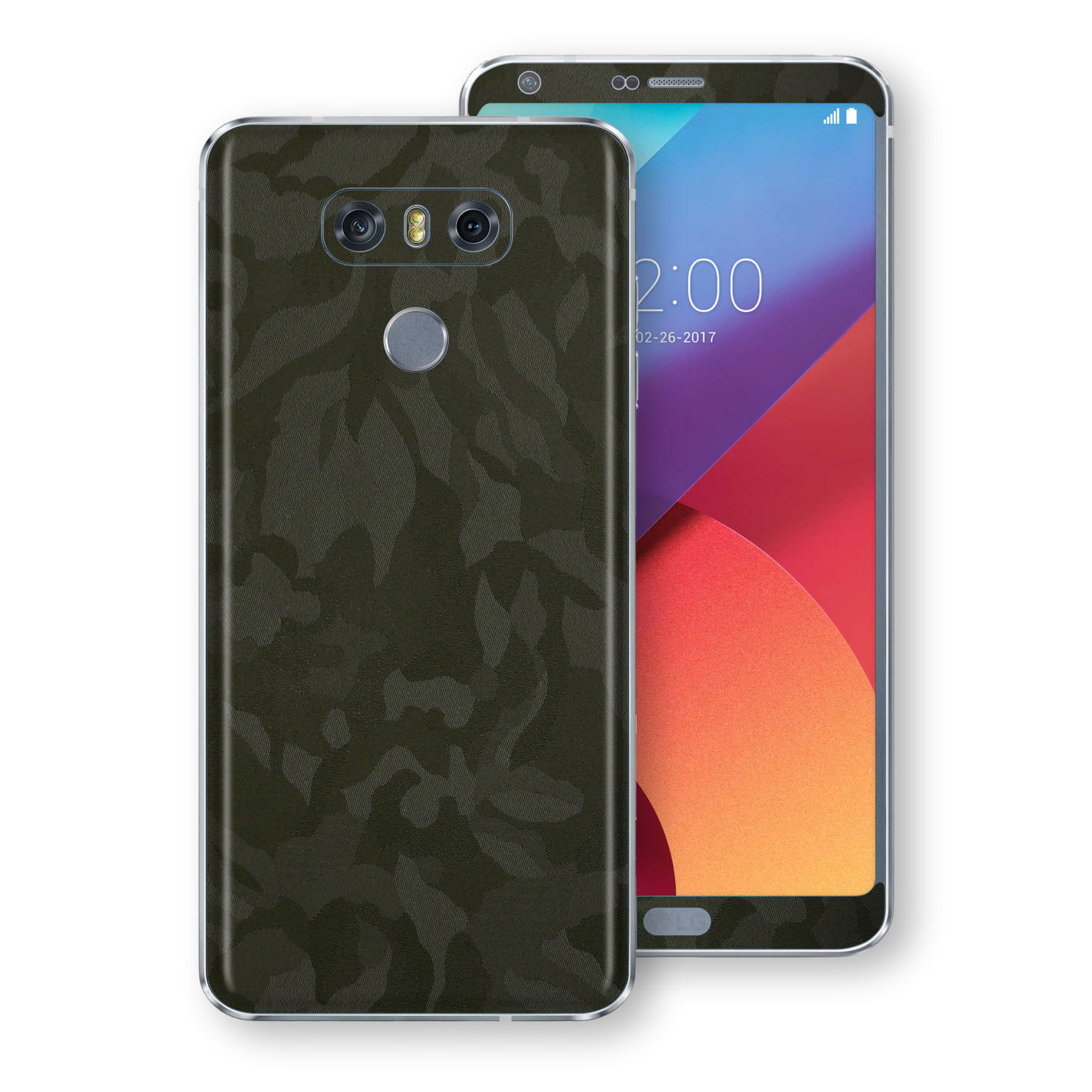 LG G6 Luxuria Green Camo Camouflage 3D Textured Skin Wrap Decal Protector | EasySkinz