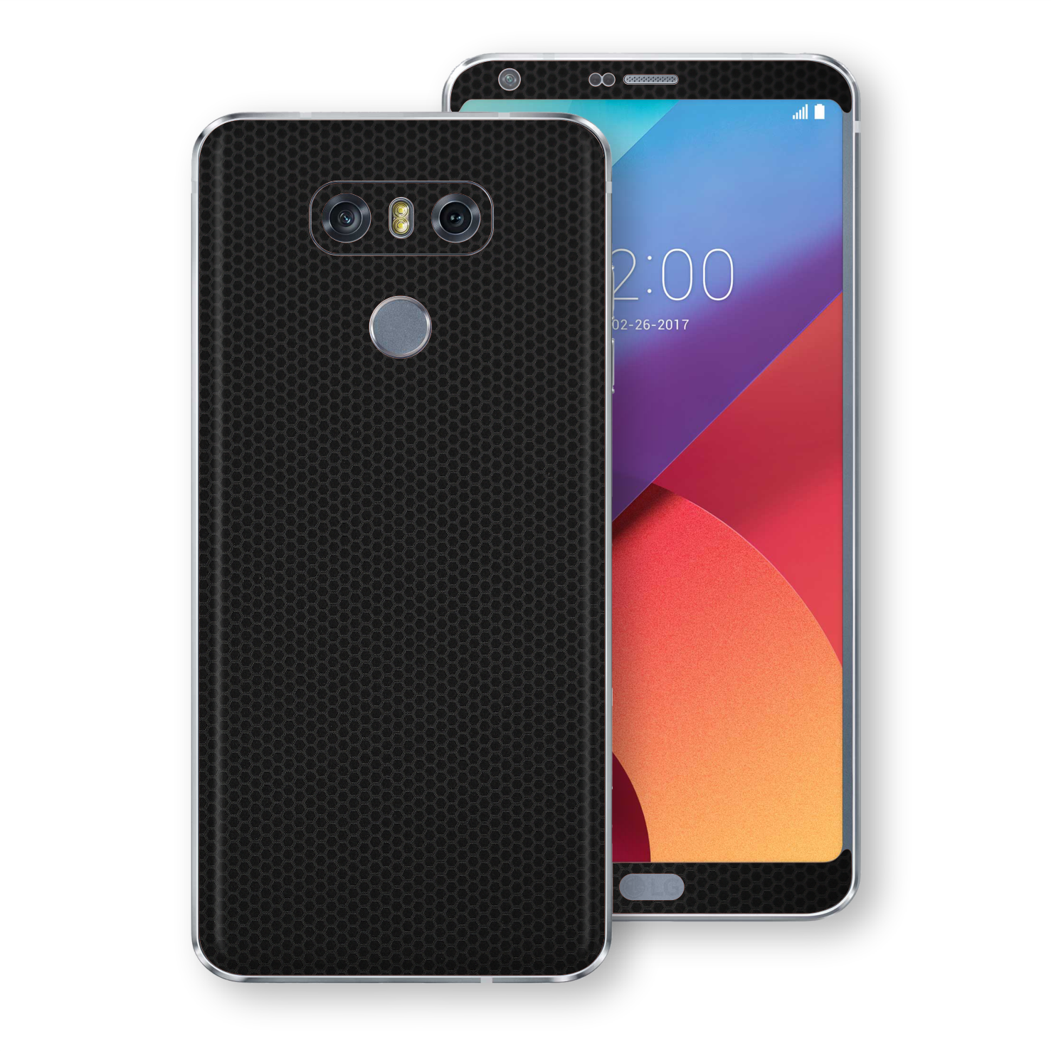 LG G6 Black Matrix Textured Skin Wrap Decal 3M by EasySkinz