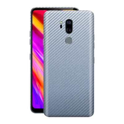 LG G7 ThinQ 3D Textured  Arctic Blue Carbon Fibre Fiber Skin, Decal, Wrap, Protector, Cover by EasySkinz | EasySkinz.com