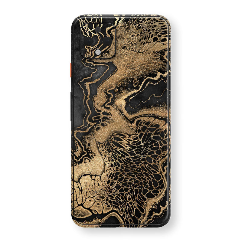 Google Pixel 4 Print Custom SIGNATURE LIQUID GOLD Veins Skin, Wrap, Decal, Protector, Cover by EasySkinz | EasySkinz.com