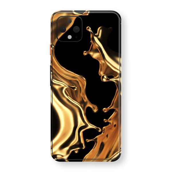 Google Pixel 4 XL Print Custom SIGNATURE LIQUID Gold Skin, Wrap, Decal, Protector, Cover by EasySkinz | EasySkinz.com
