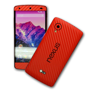 LG Google Nexus 5 red carbon skin