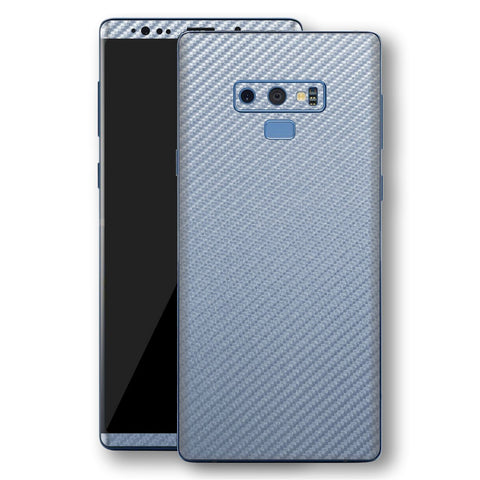 Samsung Galaxy NOTE 9 3D Textured Arctic Blue Carbon Fibre Fiber Skin, Decal, Wrap, Protector, Cover by EasySkinz | EasySkinz.com