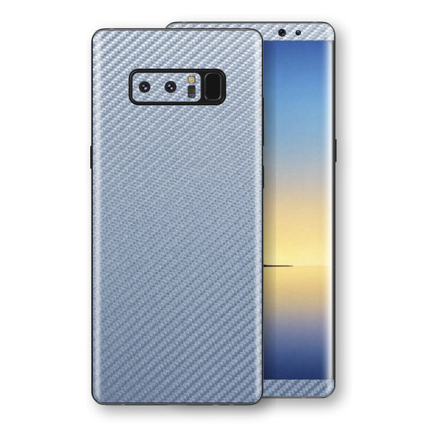 Samsung Galaxy NOTE 8 3D Textured  Arctic Blue Carbon Fibre Fiber Skin, Decal, Wrap, Protector, Cover by EasySkinz | EasySkinz.com