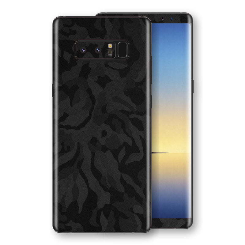 Samsung Galaxy NOTE 8 Black Camo Camouflage 3D Textured Skin Wrap Decal Protector | EasySkinz
