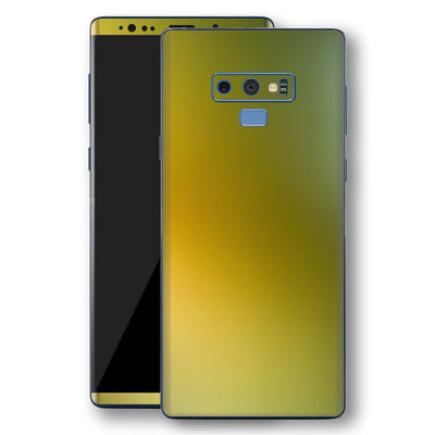Samsung Galaxy NOTE 9 Chameleon NEPHRITE-GOLD Skin Wrap Decal Cover by EasySkinz