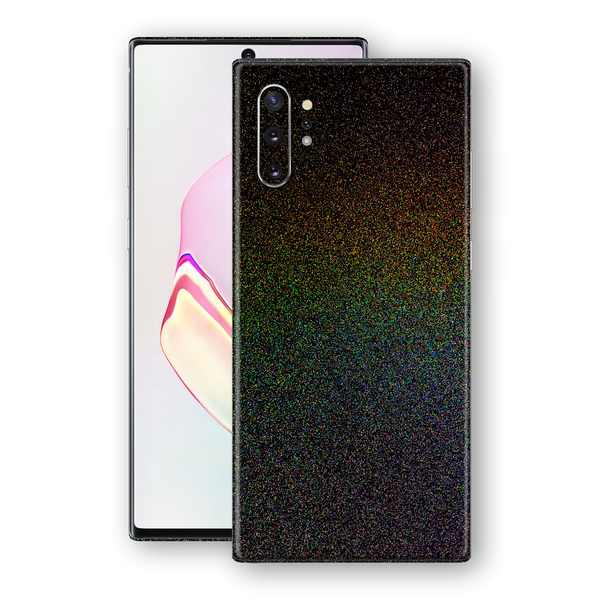 Samsung Galaxy NOTE 10 Glossy GALAXY Black Milky Way Rainbow Sparkling Metallic Skin Wrap Sticker Decal Cover Protector by EasySkinz