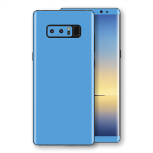 Samsung Galaxy NOTE 8 Glossy SKY BLUE Skin, Decal, Wrap, Protector, Cover by EasySkinz | EasySkinz.com