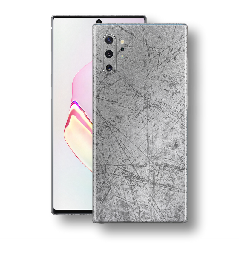 Samsung Galaxy NOTE 10+ PLUS Print Printed Custom Aluminium Scratched Plate Skin, Wrap, Decal, Protector, Cover by EasySkinz