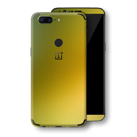 OnePlus 5T Chameleon NEPHRITE-GOLD Colour-Changing Skin, Decal, Wrap, Protector, Cover by EasySkinz | EasySkinz.com