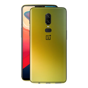 OnePlus 6 Chameleon NEPHRITE-GOLD Skin Wrap Decal Cover by EasySkinz