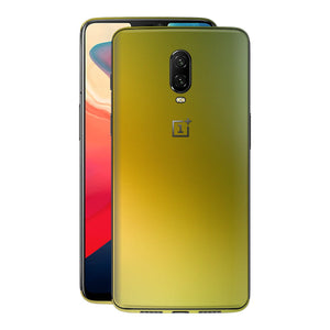 OnePlus 6T Chameleon NEPHRITE-GOLD Skin Wrap Decal Cover by EasySkinz