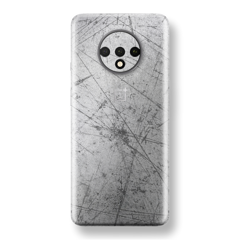 OnePlus 7T Print Custom SIGNATURE Aluminium Scratched Plate Skin, Wrap, Decal, Protector, Cover by EasySkinz | EasySkinz.com