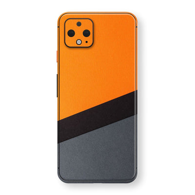 Google Pixel 4 XL Print Custom SIGNATURE Orange-Black PAPER Skin, Wrap, Decal, Protector, Cover by EasySkinz | EasySkinz.com