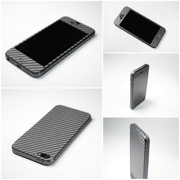 3D Textured CARBON Fibre FULL BODY Skin for iPhone 5