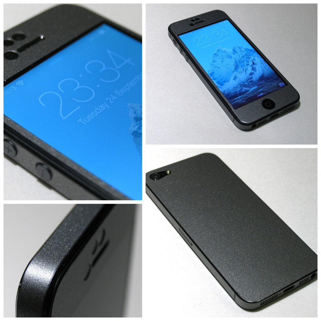 SPACE GREY Metallic MATT Finish  Skin for iPhone 5S 5 4 4S