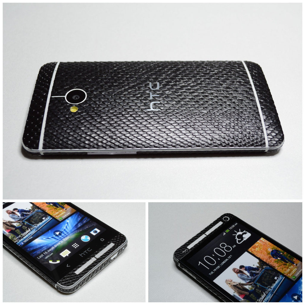 HTC ONE M7 3D Luxury FULL BODY Mamba SNAKE Effect Sticker Skin Wrap Decal