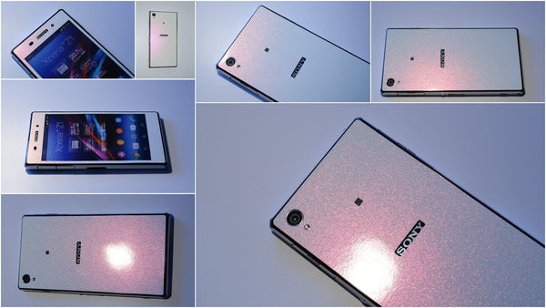Sony Xperia Z1 stardust effect delicate pink skin