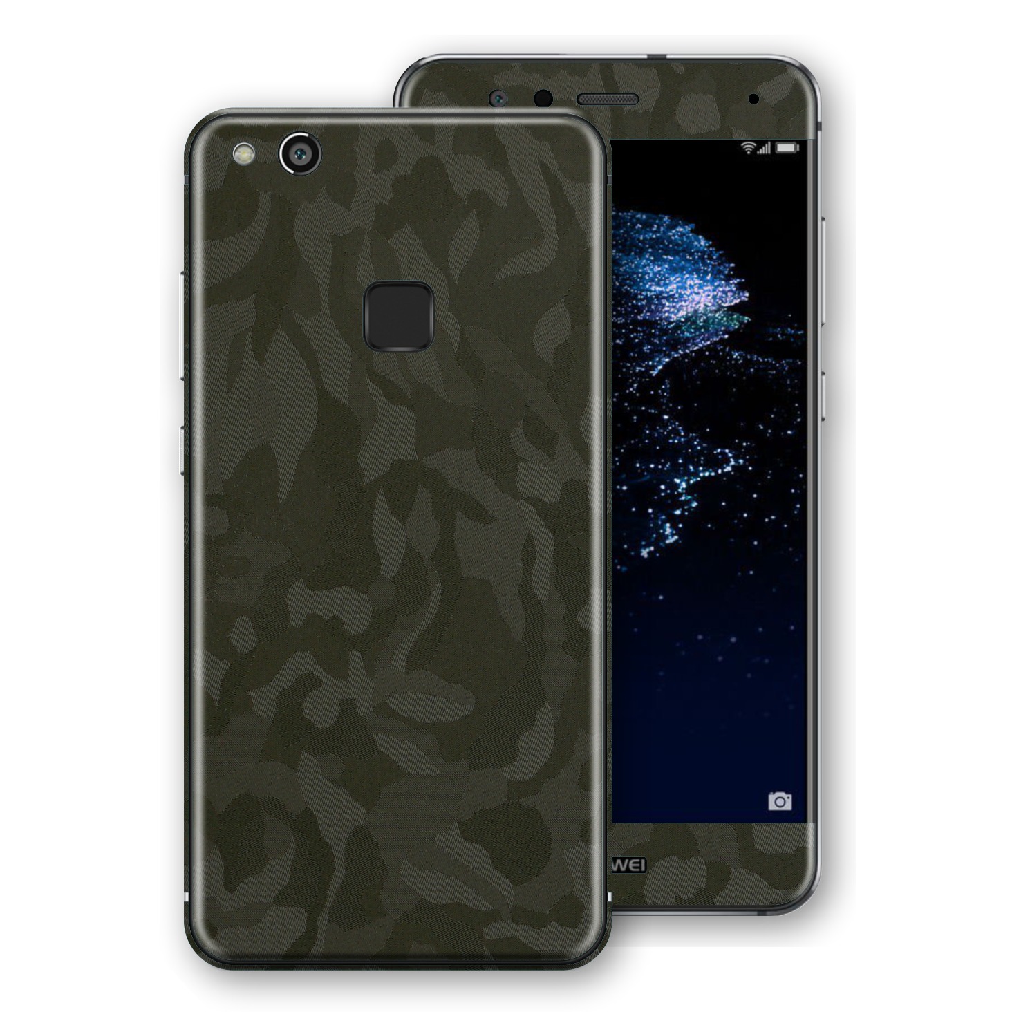 Huawei P10 LITE Luxuria Green Camo Camouflage 3D Textured Skin Wrap Decal by EasySkinz