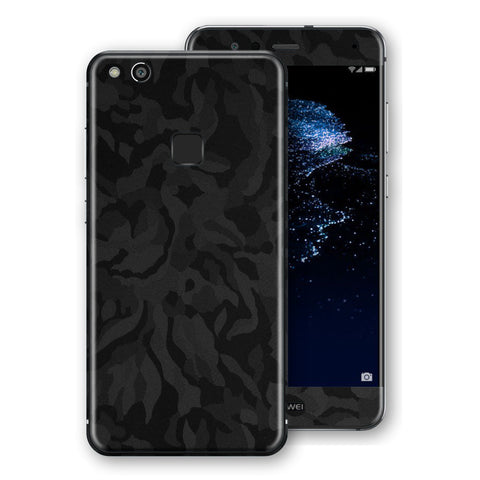 Huawei P10 LITE Luxuria Black Camo Camouflage 3D Textured Skin Wrap Decal by EasySkinz