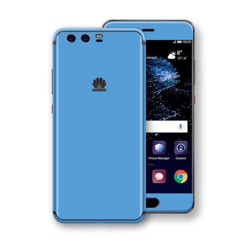 Huawei P10+ PLUS SKY BLUE Gloss Glossy Skin, Decal, Wrap, Protector, Cover by EasySkinz | EasySkinz.com